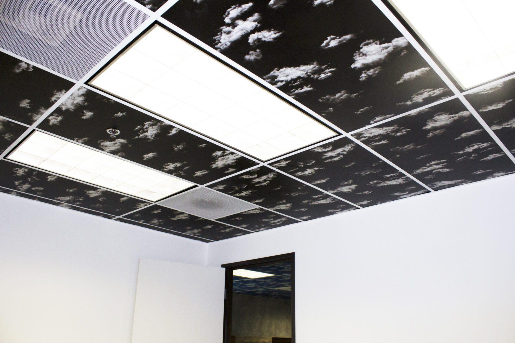 C-8 Midnight Black Ceiling Tiles